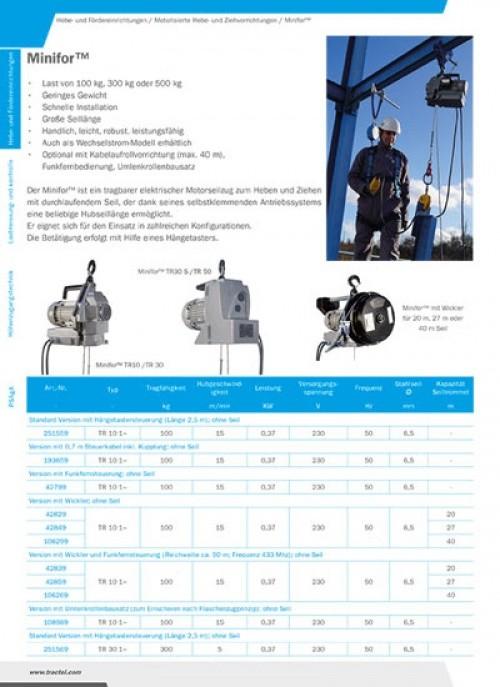 TIRAK-Durchlaufwinde-Greifzug hydraulisch