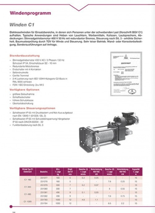 E-Winde Haacon BGV C 1